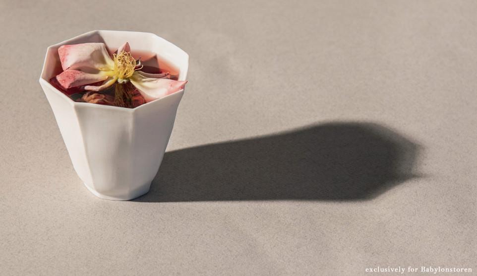 cara bauermeister ceramics rose tea cup.