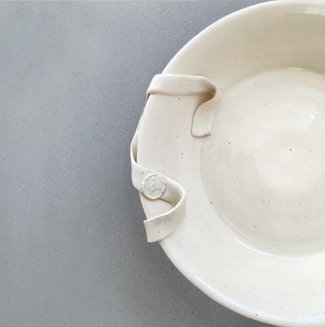 cara bauermeister ceramics ribbon plate.