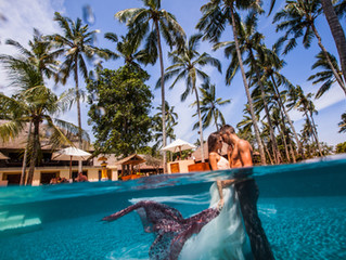 Underwater photoshoot in Bali