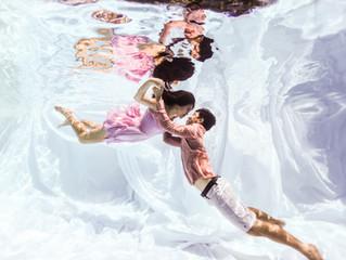 Underwater prewedding photoshoot with Brandon & Xavielle
