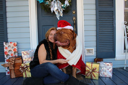 Dozer and Me Christmas Picture