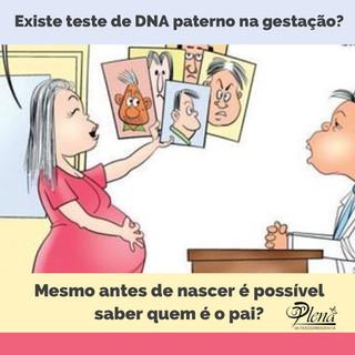 Existe teste de DNA paterno durante a gestação?
