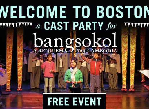 Welcoming the cast of Bangsokol to Boston