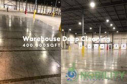 warehouse floor cleaning