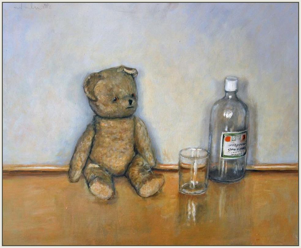 Medo od Darije, čaša i boca etanola