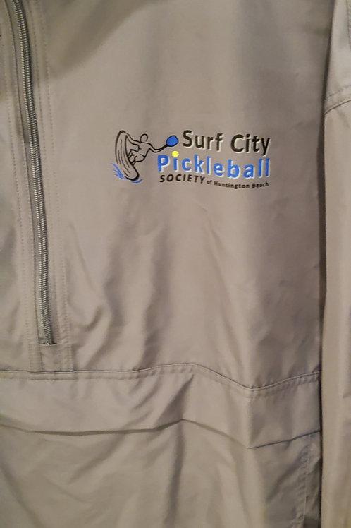 CHAMPION Nylon Pull Over Hooded Front Large & Side Pocket Zip Jacket
