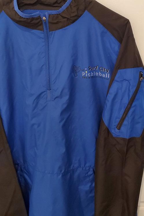 BADGER Royal /Black Field Lightweight Pullover Jacket 3/4 Collar