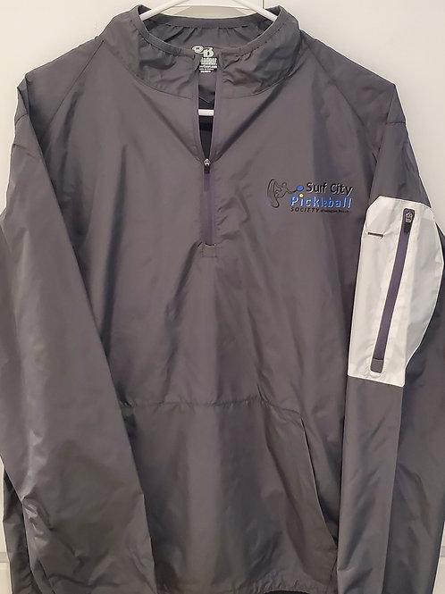 BADGER Dark Grey Field Lightweight Pullover Jacket 3/4 Collar