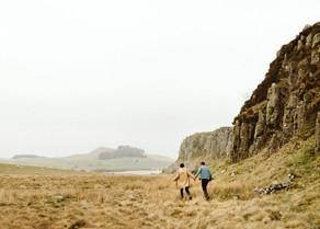 Rebecca & Ruairidh at Hadrian's Wall