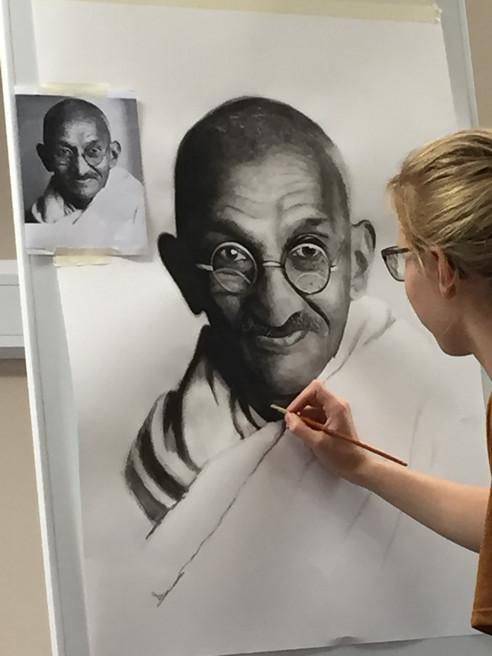 Mahatma Gandhi for Ackworth School