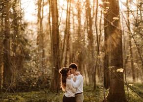 Josey & Eduard Couple Photos at Sunset in Bishop Woods