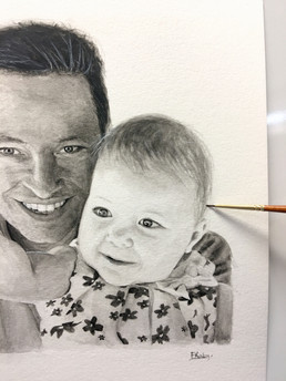 Father and daughter commission for a birthday gift