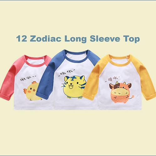 #17029 - 12 Zodiac Long Sleeve Top