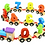 Movable cars, number cars, learn numbers with cars