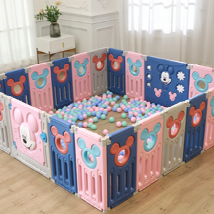 #19002 - Mickey Mouse Foldable Playpen Fence