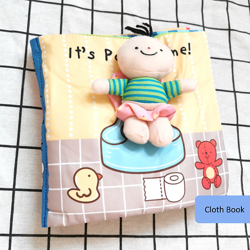 Soft book, cloth book, party time, 3d book