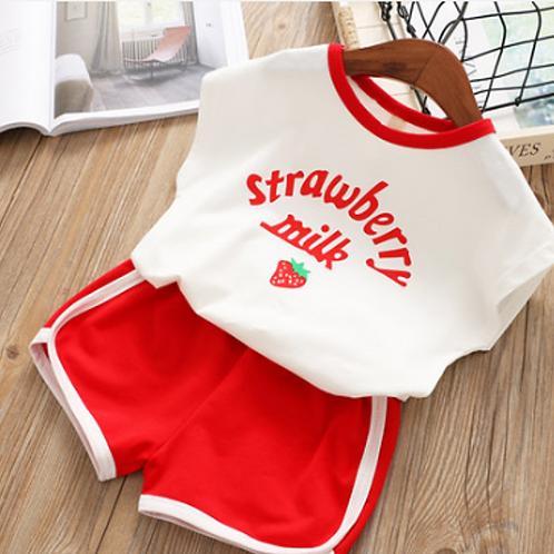 #17025 Strawberry Milk Set