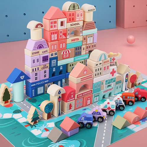 City Building Board Baby Birthday Gift Educational Toy