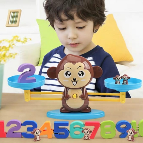 Monkey balance math learning toy, baby learn math easy way
