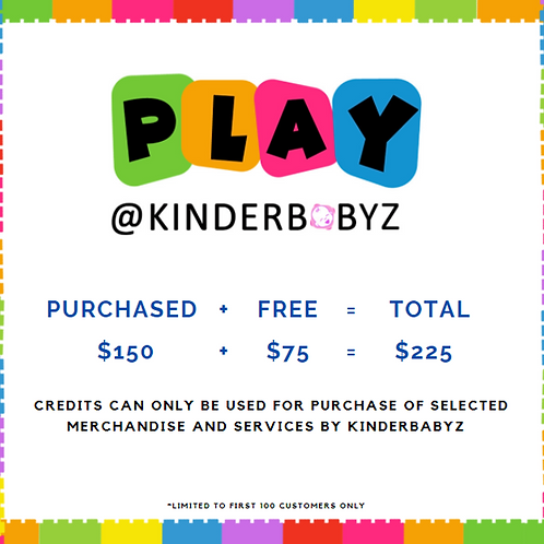 Play @ Kinderbabyz Play Credit - $150