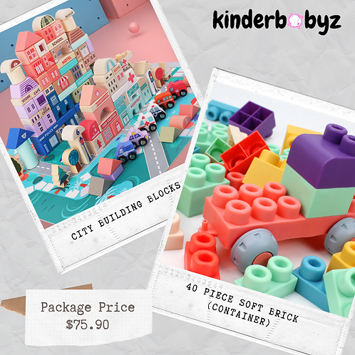 Soft Brick Lego and city building block Baby Birthday Gift Educational Toy
