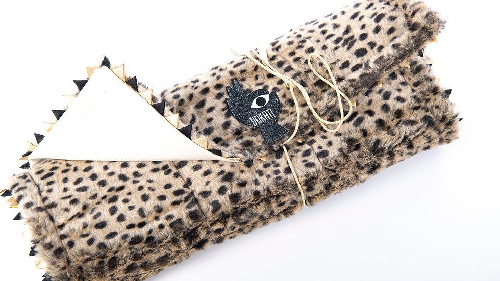 Yoga & Meditation Mat, faux fur Cheetah print