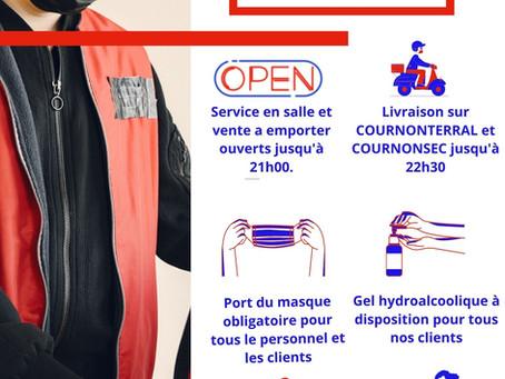 LIVRAISON JUSQU'A 22H30PENDANT LE COUVRE FEU
