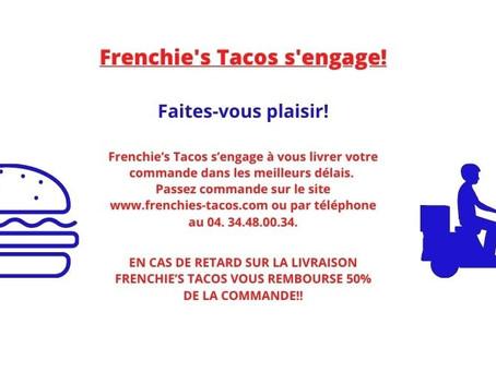 💥FRENCHIE'S TACOS S'ENGAGE SUR LES DÉLAIS DE LIVRAISON! 💥