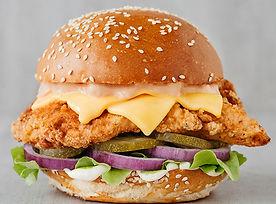burger: spycy golden fried