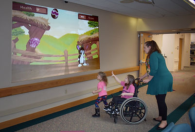 Interactive Projection USA, Shriners hospital, Child care