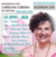 Cartel.FacebookLive.Carolina Corada.TODO