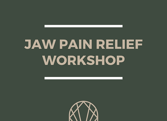 Jaw Pain Relief