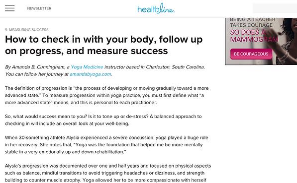 Amanda B. Cunningham on Healthline, Yoga Medicine on Healthline