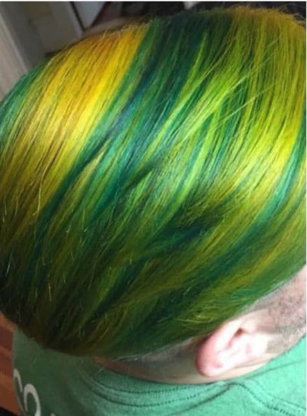 Multi tone Green & Yellow