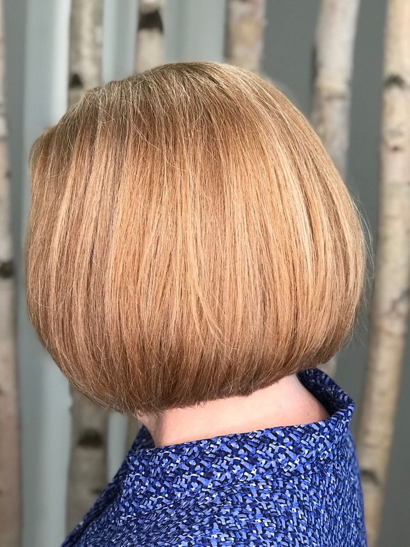 Haircut & CLear color glossing
