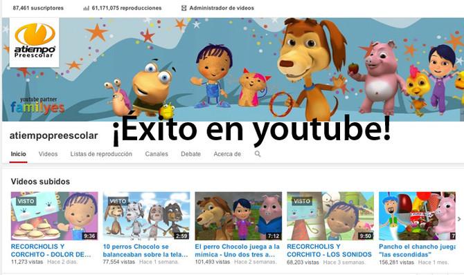 ATIEMPO PREESCOLAR ¡Éxito en youtube!