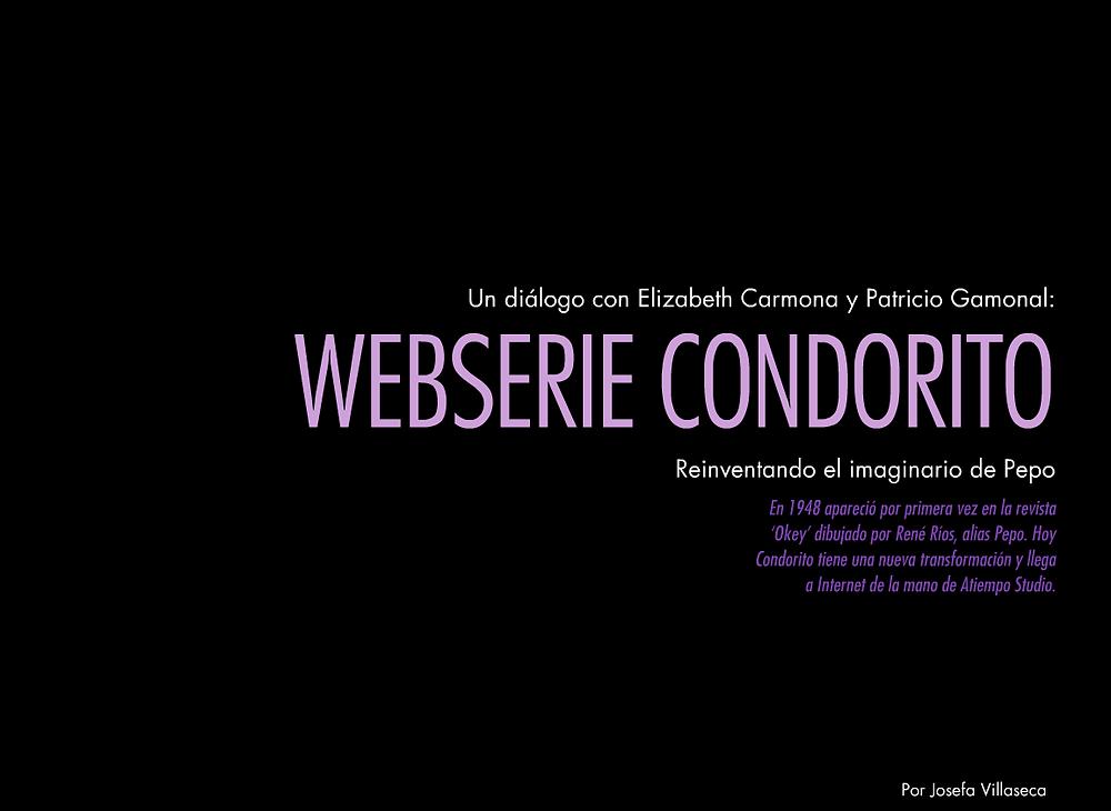 Web serie Condorito con Patricio Gamonal - Elizabeth Carmona