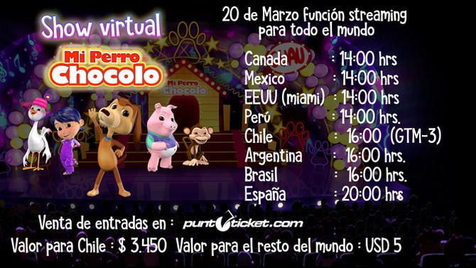 Shhow Virtual el 20 DE MARZO 16:00 Hrs.