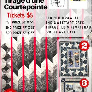 Poster for Temiskaming Art Gallery Quilt Raffle