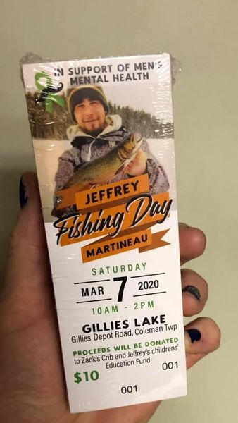 Ice fishing day ticket