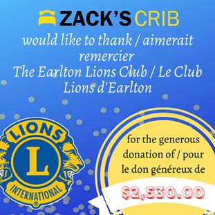 The Earlton Lions Club/Le Club Lion d'Earlton poster