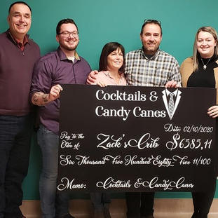 Cheque for Cocktails & Candy Canes