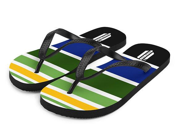 Ill Striped Flip-Flops
