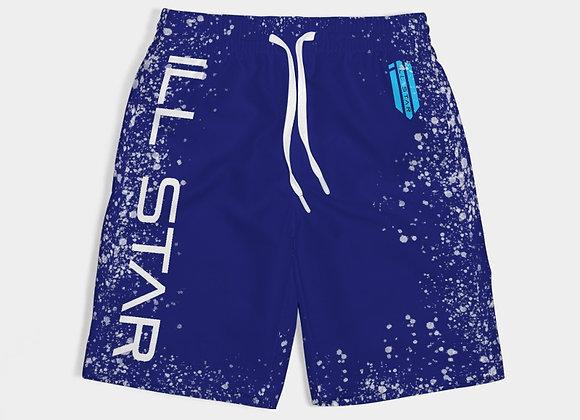 Blue Splatter Boys Swim Trunk