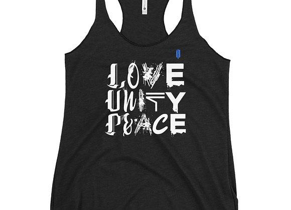 Love, Unity and Peace Women's Racerback Tank