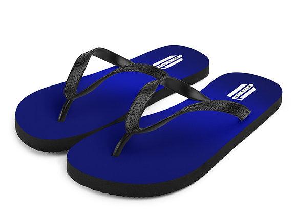 Blue Fade Flip-Flops