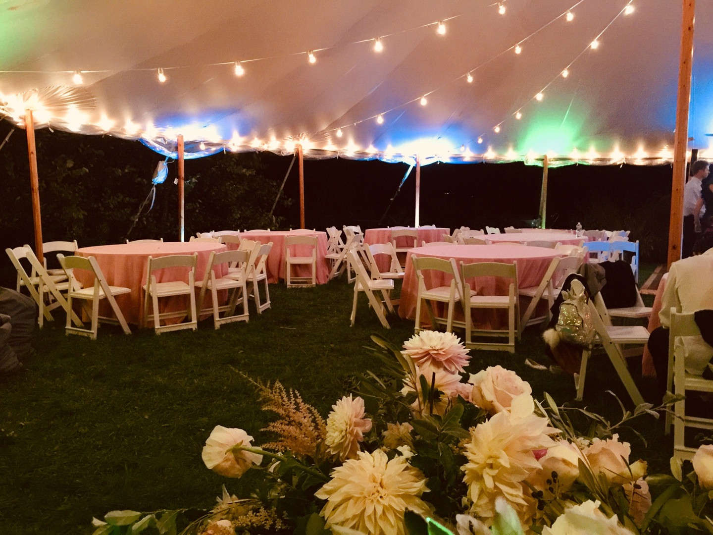 Sperry tent, wedding on the lawn