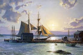 The Kate Cory, and the Cory store painting by John Stobart.