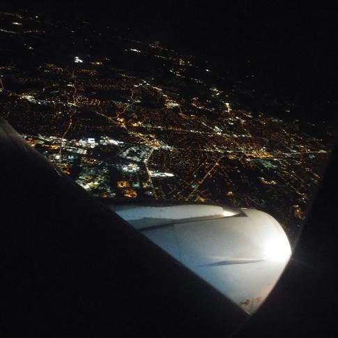 Flying into Dallas, Texas