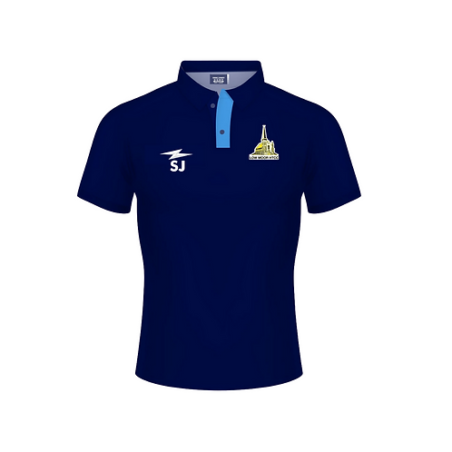Low Moor HTCC Blue Polo Shirt